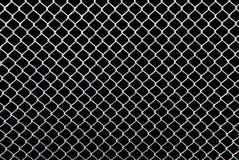 Vitt raster på en svart bakgrund Royaltyfria Foton