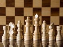 Vitt schacklag Royaltyfria Bilder