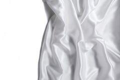 Vitt silke Fotografering för Bildbyråer