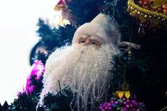 Vitt skägg av Santa Claus Royaltyfri Fotografi