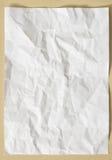 Vitt skrynkligt texturark av papper Royaltyfri Foto