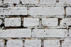 Vitt slut upp stads- bakgrund för tegelstenvägg Royaltyfri Foto