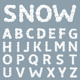 Vitt snöig alfabet Royaltyfri Fotografi
