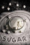 Vitt socker royaltyfri foto