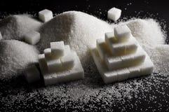 Vitt socker arkivbilder