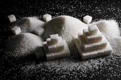 Vitt socker royaltyfria foton