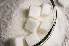 Vitt socker arkivbild