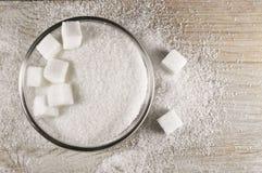 Vitt socker arkivfoton