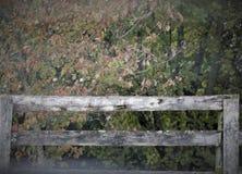 Vitt staket arkivbilder