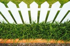 Vitt staket Royaltyfria Foton