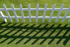 Vitt staket Royaltyfria Bilder