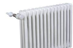 Vitt stilfullt element med termostaten arkivfoton