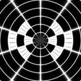 Vitt symbol för för strålöverföringstorn eller spotter på den svarta bakgrunden Royaltyfri Illustrationer