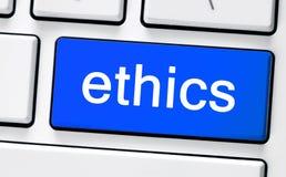 Vitt tangentbord för dator med etik Arkivfoton