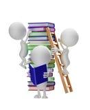 Vitt tecken med boken stock illustrationer