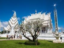 Vitt tempel, watrongkhun, Chiang Rai Arkivbilder