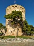 Vitt torn av Thesaloniki Fotografering för Bildbyråer