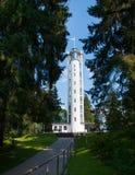 Vitt torn Haanja Estland Royaltyfri Bild