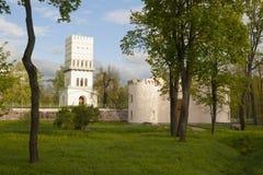 Vitt torn i Pushkin Arkivfoton