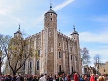 Vitt torn i tornet av London den historiska platsen Royaltyfri Fotografi