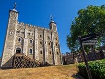 Vitt torn inom tornet av London fotografering för bildbyråer