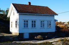 vitt trä för hus Royaltyfria Foton