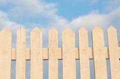 vitt trä för staket Arkivbilder
