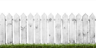 vitt trä för staket royaltyfri bild