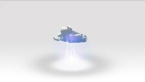 Vitt utrymme med molnet Royaltyfri Foto
