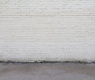 Vitt vägg och golv arkivbilder