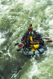 Vitt vatten som Rafting i Kitulgala Sri Lanka Arkivbilder