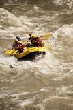 Vitt vatten som rafting i Nepal Arkivbilder