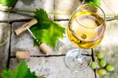 Vitt vin arkivbilder