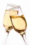 Vitt vin/champagne royaltyfria foton