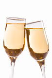 Vitt vin/champagne arkivfoto