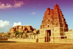 Vittala temple in Hampi, Karnataka province Stock Photography