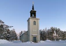 Vittangi Church in winter, Sweden royalty free stock image