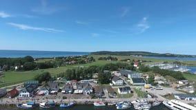 Vitte Hiddensee in Germany harbor island. Summer stock video
