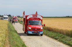 Vittel-Fahrzeug - Tour de France 2015 Stockfotografie