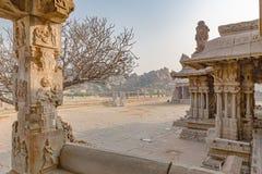 Vitthala temple gopuram, Hampi, Karnataka, India. Vitthala temple gopuram in Hampi, Karnataka, India, Asia royalty free stock images