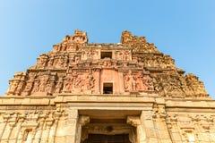 Vitthala temple gopuram, Hampi, Karnataka, India. Detail of Vitthala temple gopuram in Hampi, Karnataka, India, Asia stock image