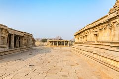 Vitthala temple gopuram, Hampi, Karnataka, India. Vitthala temple gopuram in Hampi, Karnataka, India, Asia royalty free stock photography