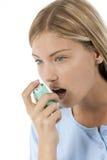 Vittima di asma fotografia stock libera da diritti
