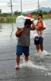 Vittima di inondazione in Lopburi Tailandia Fotografia Stock Libera da Diritti