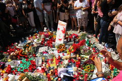 Vittime di Barcellona commemorative Immagini Stock
