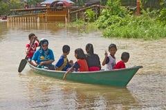 Vittime di inondazione Immagini Stock