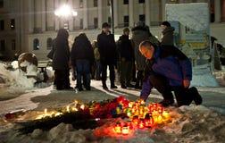 Vittime di onori di Kiev del conflitto di Donbas Immagini Stock Libere da Diritti