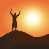 Vittoria al tramonto illustrazione di stock