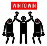 Vittoria da vincere Situazione aziendale come pugilato Concetto di affari - vincitore e vincitore o più sciolto e più sciolto Fig Fotografia Stock