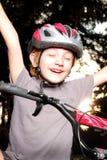 Vittoria del vincitore della bici Fotografia Stock